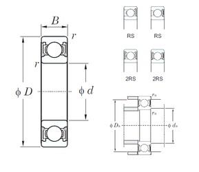 95 mm x 145 mm x 24 mm  KOYO 6019-2RS Cojinetes de bolas profundas