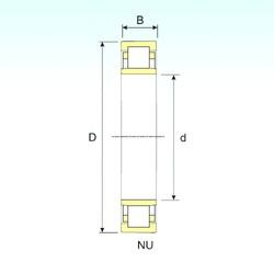 900 mm x 1090 mm x 85 mm  ISB NU 18/900 Rodamientos De Rodillos