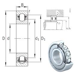 20 mm x 52 mm x 15 mm  INA BXRE304-2Z Rodamientos De Agujas
