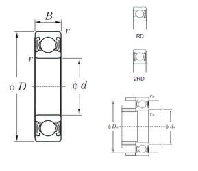 32 mm x 65 mm x 17 mm  KOYO 62/32-2RD Cojinetes de bolas profundas