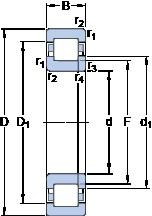 60 mm x 110 mm x 22 mm  SKF NUP 212 ECJ Cojinetes De Bola