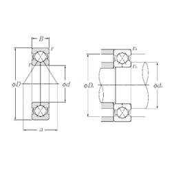 105 mm x 190 mm x 36 mm  NTN QJ221 Cojinetes De Bola De Contacto Angular