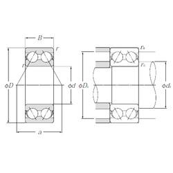 25 mm x 52 mm x 20,6 mm  NTN 5205S Cojinetes De Bola De Contacto Angular