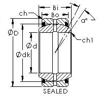 AST GEG50ES-2RS Rodamientos Deslizantes