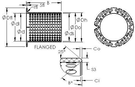AST ASTT90 F13080 Rodamientos Deslizantes