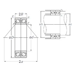 300 mm x 420 mm x 54 mm  NTN HTA960DB Cojinetes De Bola De Contacto Angular