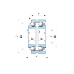 NTN BD155-1WSA Cojinetes De Bola De Contacto Angular