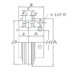 31.75 mm x 62 mm x 38,1 mm  KOYO ER206-20 Cojinetes de bolas profundas