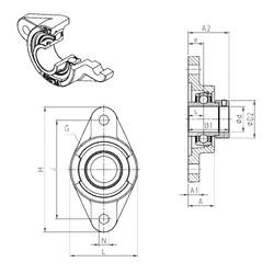 SNR EXFL306 Unidad De Rodamiento