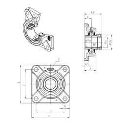 SNR EXFE201 Unidad De Rodamiento