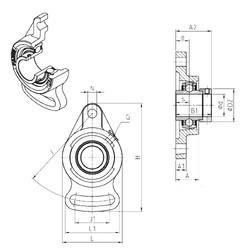 SNR EXFA202 Unidad De Rodamiento