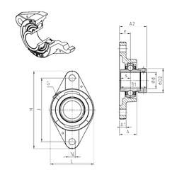 SNR EXFLE206 Unidad De Rodamiento