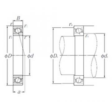 80 mm x 125 mm x 22 mm  NTN 5S-HSB016C Cojinetes De Bola De Contacto Angular