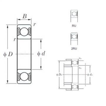 105 mm x 145 mm x 20 mm  KOYO 6921-1-2RU Cojinetes de bolas profundas