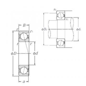 20 mm x 52 mm x 15 mm  NTN 7304B Cojinetes De Bola De Contacto Angular