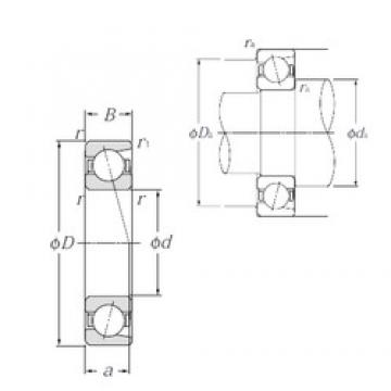 30 mm x 62 mm x 16 mm  NTN 7206C Cojinetes De Bola De Contacto Angular