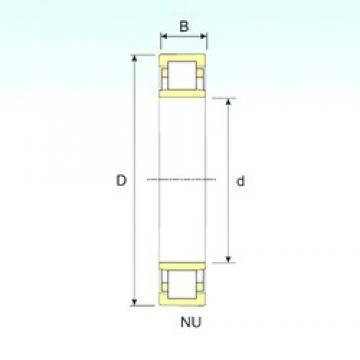 1000 mm x 1320 mm x 185 mm  ISB NU 29/1000 Rodamientos De Rodillos