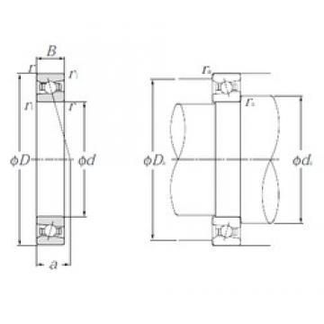 80 mm x 110 mm x 16 mm  NTN HSB916C Cojinetes De Bola De Contacto Angular