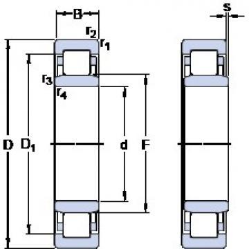 160 mm x 240 mm x 48 mm  SKF NU 2032 ECMA Cojinetes De Bola