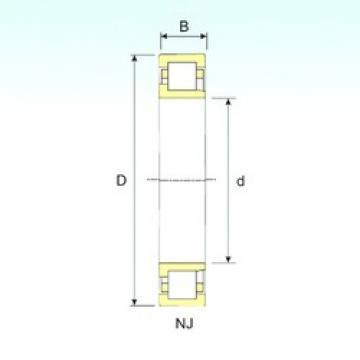 60 mm x 110 mm x 22 mm  ISB NJ 212 Rodamientos De Rodillos