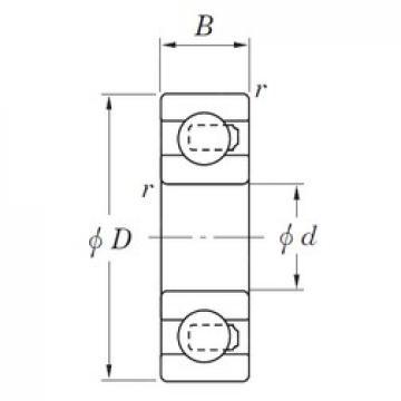 8 mm x 24 mm x 8 mm  KOYO NC728V Cojinetes de bolas profundas