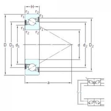 55 mm x 100 mm x 20 mm  SKF BSD 55100 CG-2RZ Cojinetes De Bola