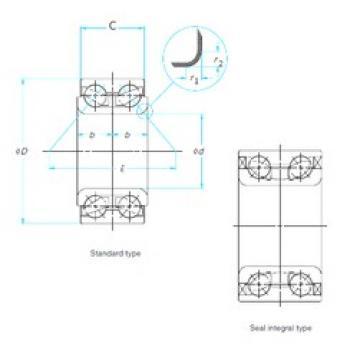 52 mm x 91 mm x 40 mm  NTN AU1022-2LXL Cojinetes De Bola De Contacto Angular