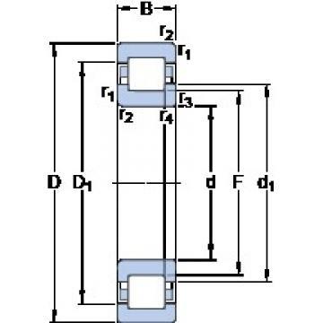 70 mm x 125 mm x 31 mm  SKF NUP 2214 ECML Cojinetes De Bola