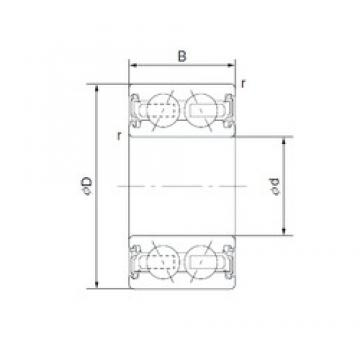 35 mm x 55 mm x 20 mm  NTN 2J-DF07A02LA4 Cojinetes De Bola De Contacto Angular