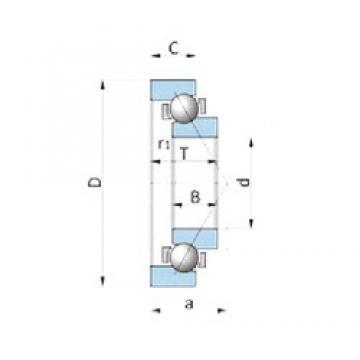 NTN SF2812PX1 Cojinetes De Bola De Contacto Angular