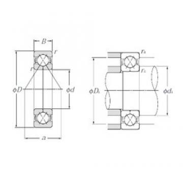 85 mm x 150 mm x 28 mm  NTN QJ217 Cojinetes De Bola De Contacto Angular