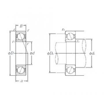 40 mm x 68 mm x 15 mm  NTN BNT008 Cojinetes De Bola De Contacto Angular