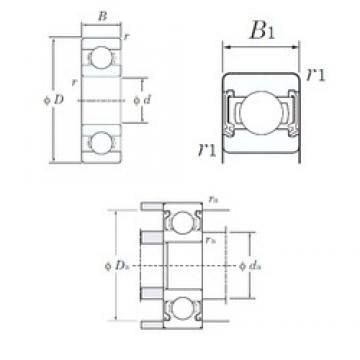 6 mm x 17 mm x 6 mm  KOYO 606-2RD Cojinetes de bolas profundas