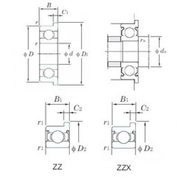 9 mm x 24 mm x 7 mm  KOYO F609ZZ Cojinetes de bolas profundas