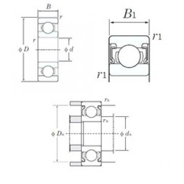 3 mm x 10 mm x 4 mm  KOYO 623-2RS Cojinetes de bolas profundas