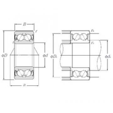 17 mm x 47 mm x 22,2 mm  NTN 5303SCLLD Cojinetes De Bola De Contacto Angular