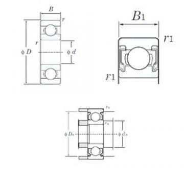 8 mm x 22 mm x 7 mm  KOYO 608-2RU Cojinetes de bolas profundas
