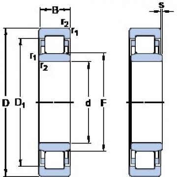 900 mm x 1180 mm x 122 mm  SKF NU 19/900 ECMA Cojinetes De Bola