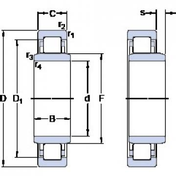 85 mm x 150 mm x 36 mm  SKF NUB 217 ECJ Cojinetes De Bola