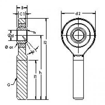 AST SAJK12C Rodamientos Deslizantes