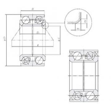 48 mm x 89 mm x 44 mm  NTN AU1001-5LLX/L260 Cojinetes De Bola De Contacto Angular