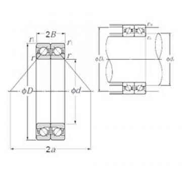170 mm x 260 mm x 40,5 mm  NTN HTA034DB Cojinetes De Bola De Contacto Angular