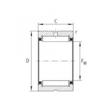 INA NK73/25-XL Rodamientos De Agujas