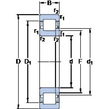 630 mm x 920 mm x 128 mm  SKF NUP 10/630 ECMA/HA1 Cojinetes De Bola