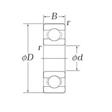 3,175 mm x 9,525 mm x 2,779 mm  KOYO OB76 Cojinetes de bolas profundas