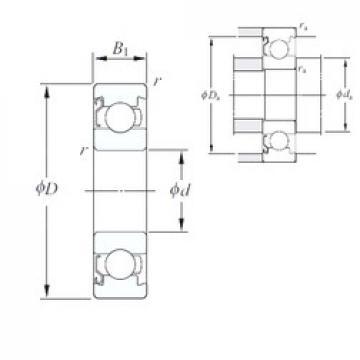 3 mm x 8 mm x 2,6 mm  KOYO 693/1BZ Cojinetes de bolas profundas