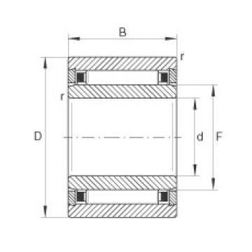 7 mm x 17 mm x 16 mm  INA NKI7/16-TV Rodamientos De Agujas