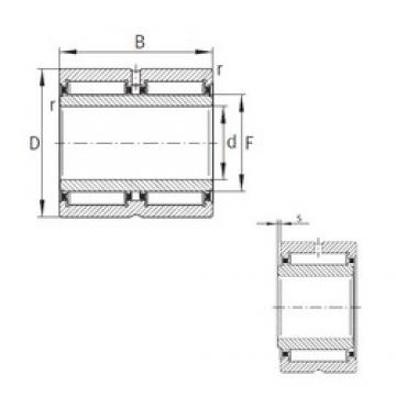 35 mm x 55 mm x 36 mm  INA NA6907-ZW-XL Rodamientos De Agujas