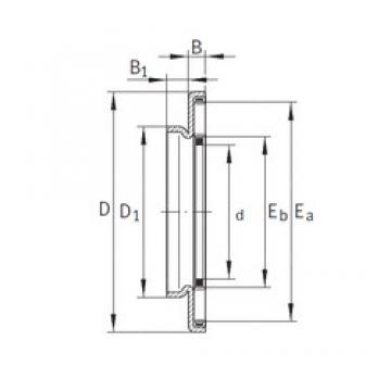 12 mm x 29 mm x 3,2 mm  INA AXW12 Rodamientos De Agujas