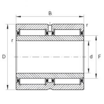 70 mm x 100 mm x 54 mm  INA NA6914-ZW Rodamientos De Agujas